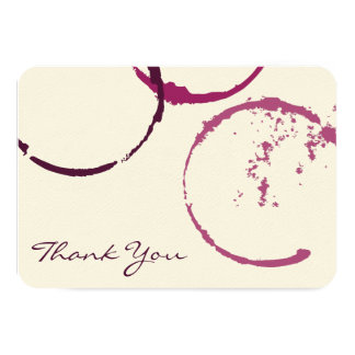 Thank You Flat Note Cards   Wine Stain Rings Invite