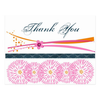Thank You Floral Contemporary Postcards