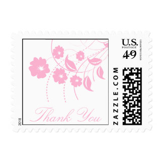 Thank You Floral Flourish Postage (Pink)
