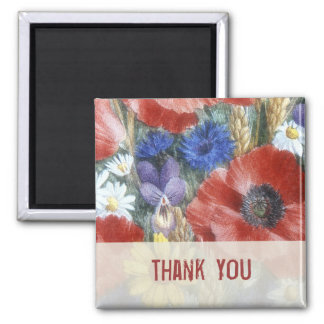 Thank You Floral Magnet