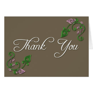 Thank You Floral Note Card