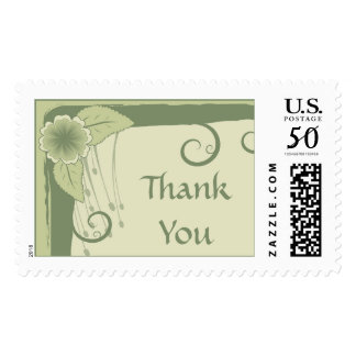 Thank You Floral Postage Stamp