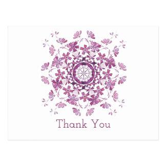 Thank you. Floral purple element. Postcard