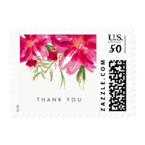 Thank You Floral Watercolor Postage Stamps