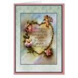 Thank You Flower Girl Bridal Party Greeting Card