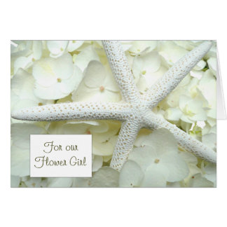 Thank You Flower Girl Custom Starfish Card