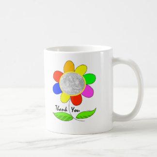 Thank you flower photo mug