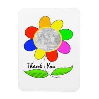 Thank you flower photo flexible magnets