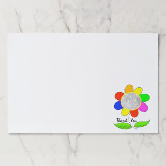 thank you flower photo template paper pad