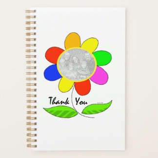 thank you flower photo template planner