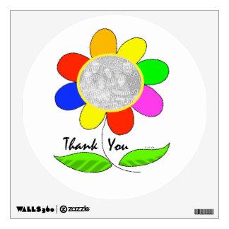 Thank you flower photo wall sticker