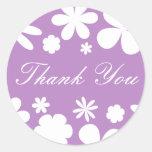Thank You Flower Power Envelope Sticker Seal