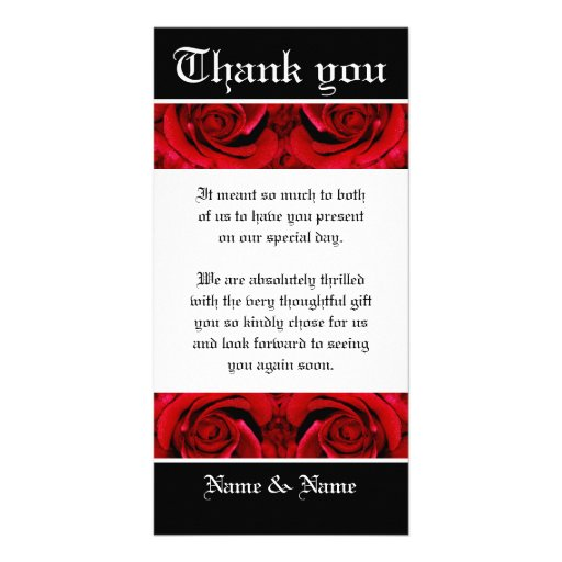 Thank you flower rose red ~ customize it card