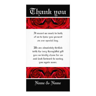 Thank you flower rose red ~ customize it photo card