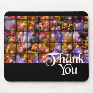 Thank You Flower Weave Mouse Mat