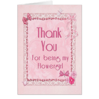 Thank you flowergirl card