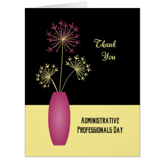 Thank you flowers administrative professionals day card