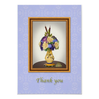 Thank You, Flowers in Yellow Vase Card