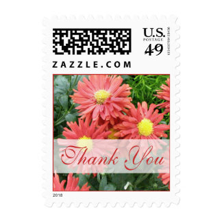 Thank you flowers postage