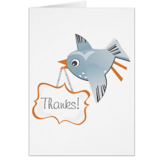 thank you flying bird greeting cards