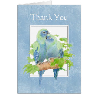 Thank You for all you did for us - Parrot Couple Card