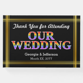 """""""Thank You for Attending Our Wedding"""" Guest Book"""