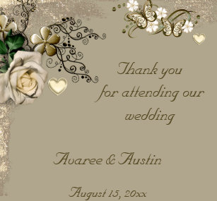 thank you for attending our wedding gifts zazzle