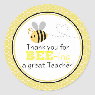 Thank you for beeing a great teacher classic round sticker