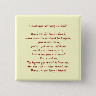 Thank You For Being a Friend - Button