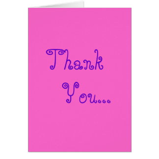 Thank you for being a friend card