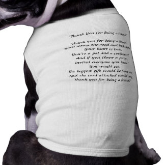 Thank You For Being A Friend - Doggie Tank Top