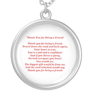 Thank You for Being a Friend - Necklace