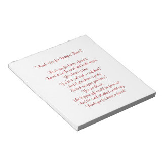Thank You for Being a Friend - Notepad