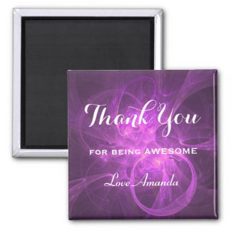 Thank You For Being Awesome Purple Pink Abstract Magnet