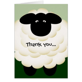 Thank you for being ewe note card