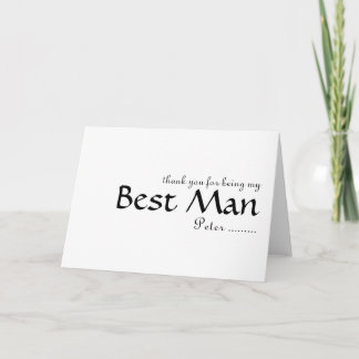 Thank you for being my Best Man