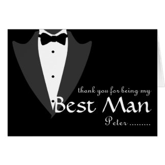 Thank you for being my Best Man Tuxedo Card