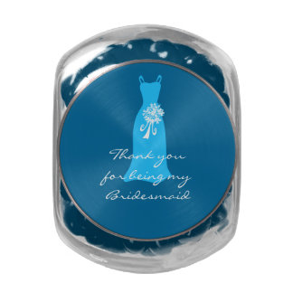 Thank you for being my Bridesmaid Glass Candy Jars