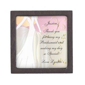 Thank You for Being my Bridesmaid Gift Box! Keepsake Box