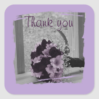 Thank You for being my Bridesmaid Gift Square Sticker