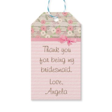 Wedding Themed Thank You for being my Bridesmaid Gift Tag