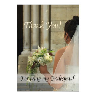 Thank you for being my Bridesmaid Magnetic Card