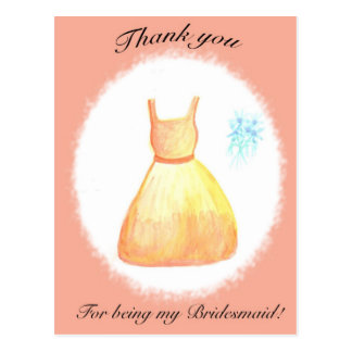 Thank you For Being my Bridesmaid Postcard