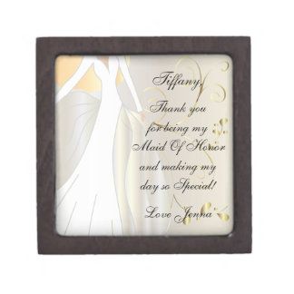 Thank You for Being my Maid Of Honor Gift Box! Jewelry Box