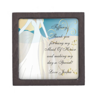 Thank You for Being my Maid Of Honor Gift Box! Keepsake Box