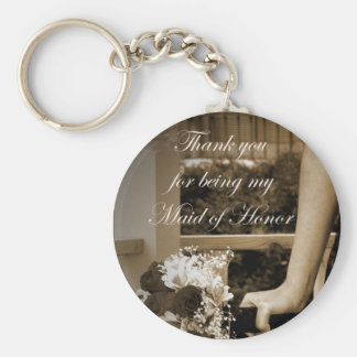 Thank you for being my Maid of Honor Gift Keychain