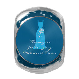 Thank you for being my Matron of Honor Glass Candy Jar
