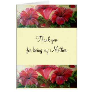 thank you for being my mother Card