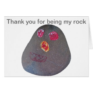 Thank you for being my rock card