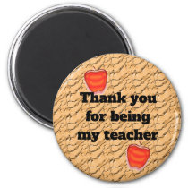 Thank You For Being My Teacher Apple Appreciation Magnet
